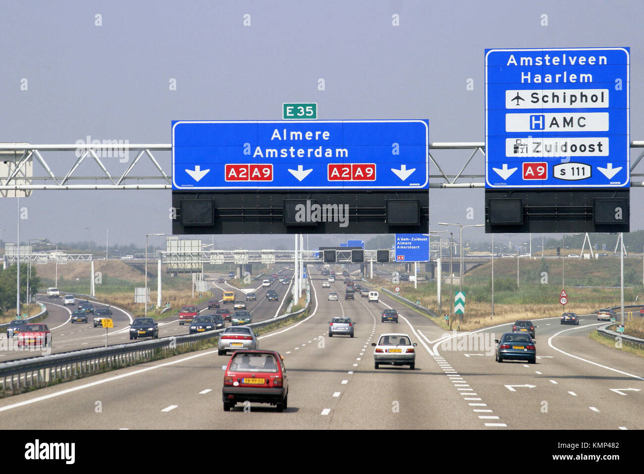 Motorway A2. Holland Stock Photo