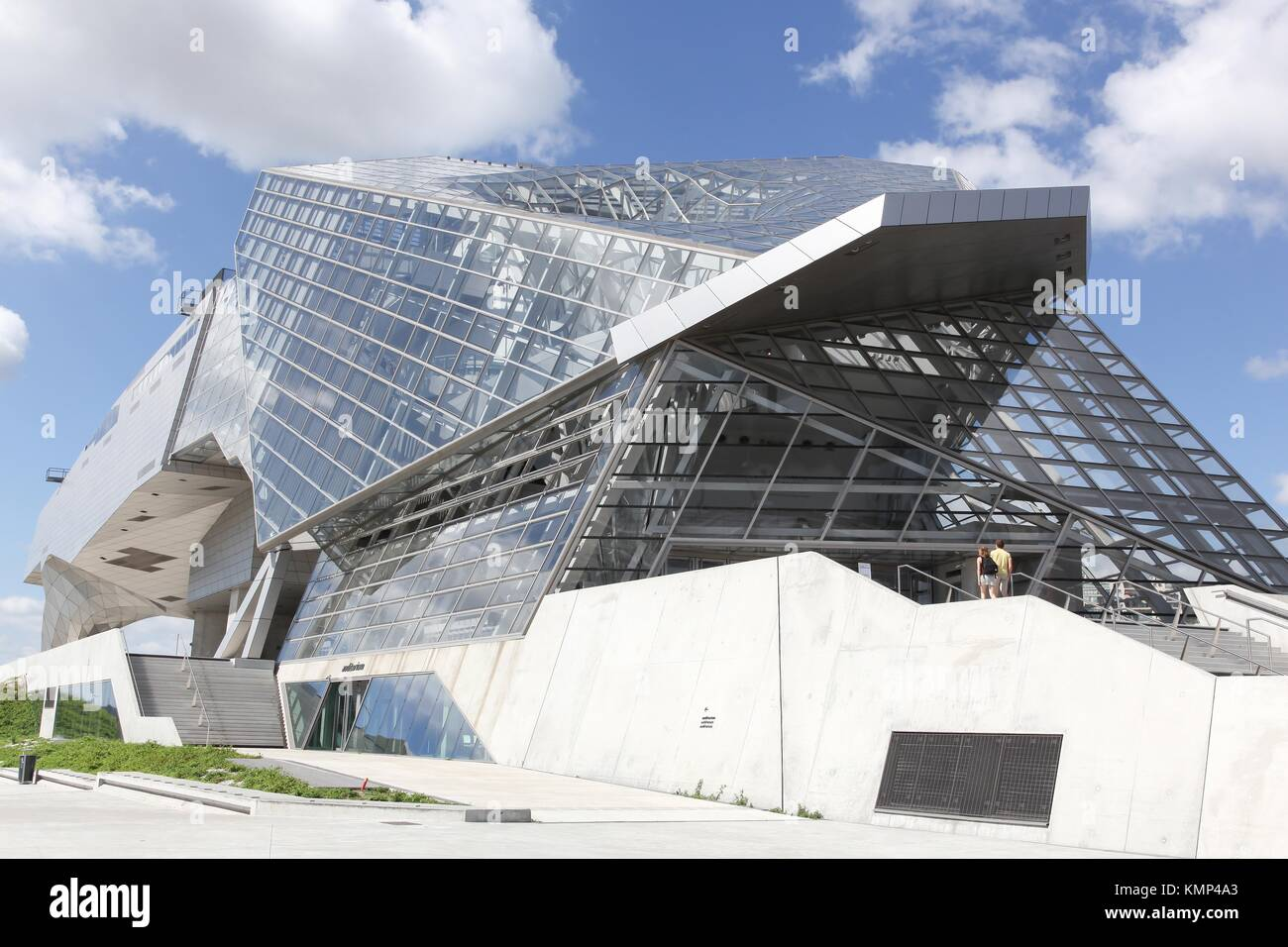 Lyon, France - July 3, 2017: The Musee des Confluences in Lyon, France. The Musee des Confluences is a science centre Stock Photo