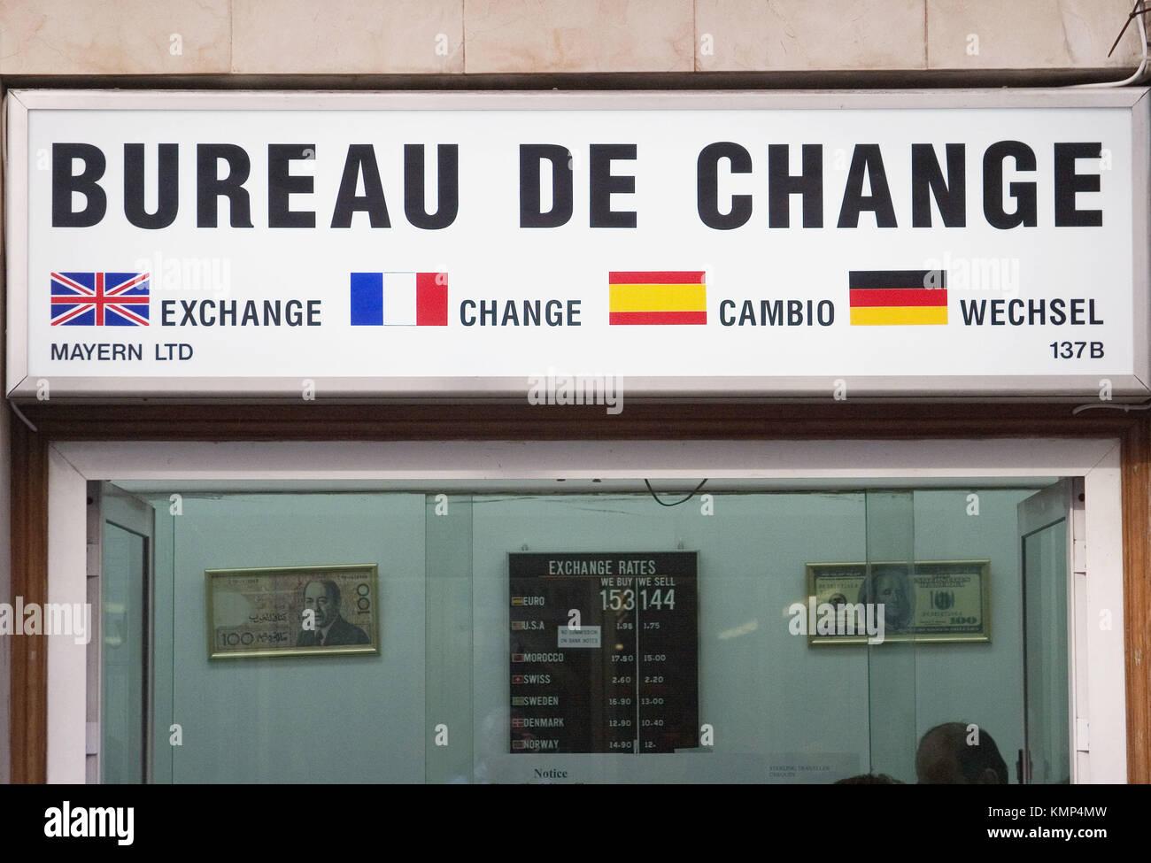 The money shop bureau de change stock photos the money shop