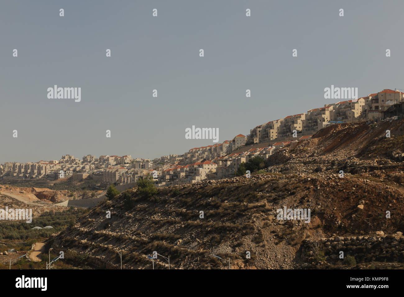 Israeli settlements,Wadi Fukin, Palestine, West Bank, Israel, Middle East. Stock Photo