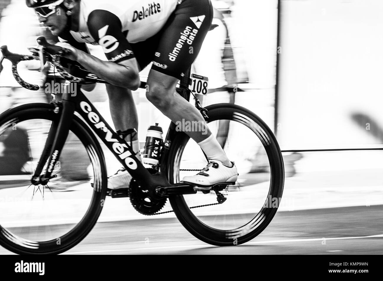 Imperia, IM, Liguria, Italy - March 20, 2016: An important cycling race in a small town in Italy in March. The name - Stock Image