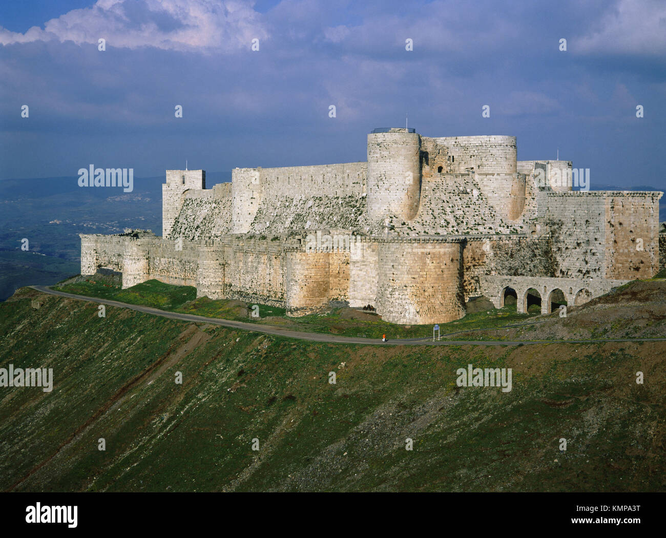 Krak des Chevaliers (Castle of the Knights). Qalaat al Hosn. Syria - Stock Image