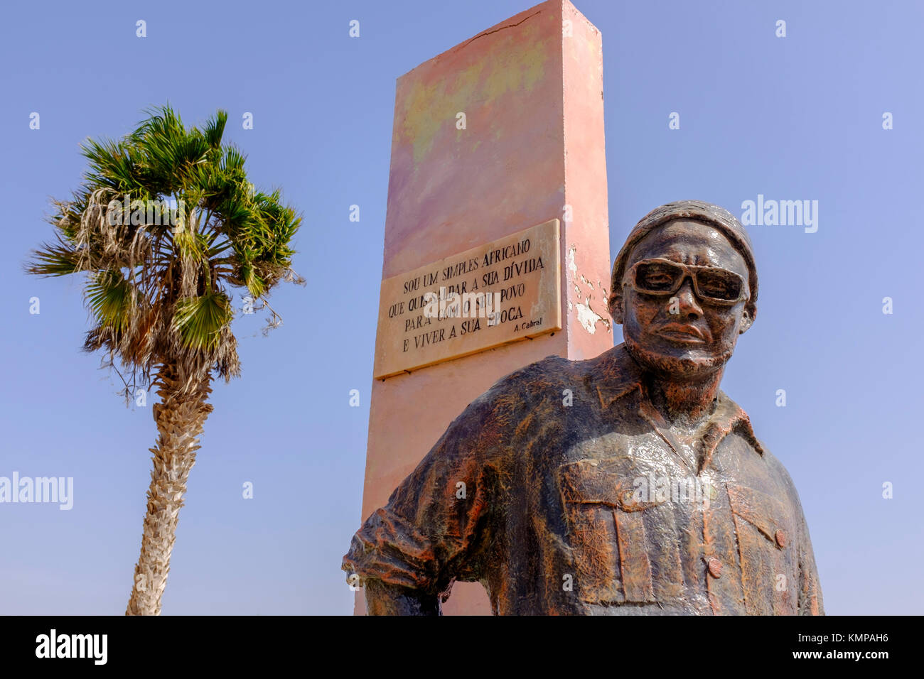 Statue outside Amilcar Cabral International Airport, Cape Verde, Africa - Stock Image
