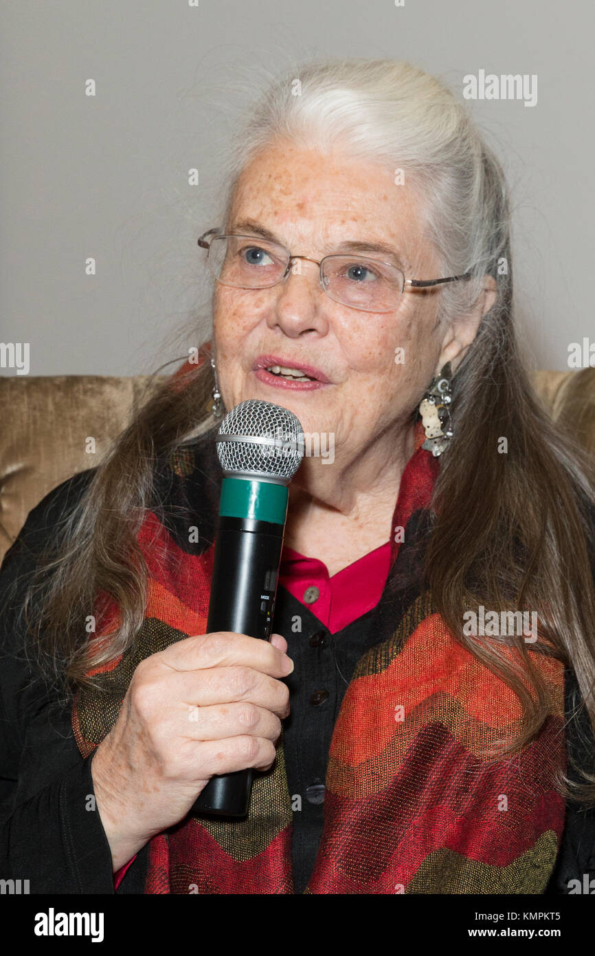 New York, USA. 8th December, 2017. Actress Lois Smith attends questions and answers after screening movie Marjorie Prime at Core CLub Credit: lev radin/Alamy Live News Stock Photo