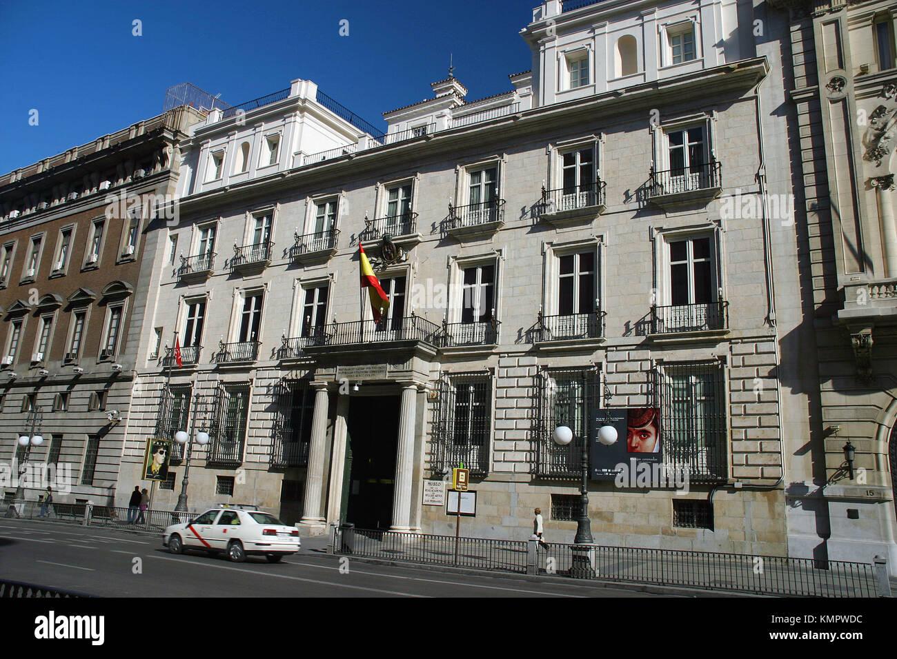 Museum of Real Academia de Bellas Artes de San Fernando, Madrid. Spain - Stock Image
