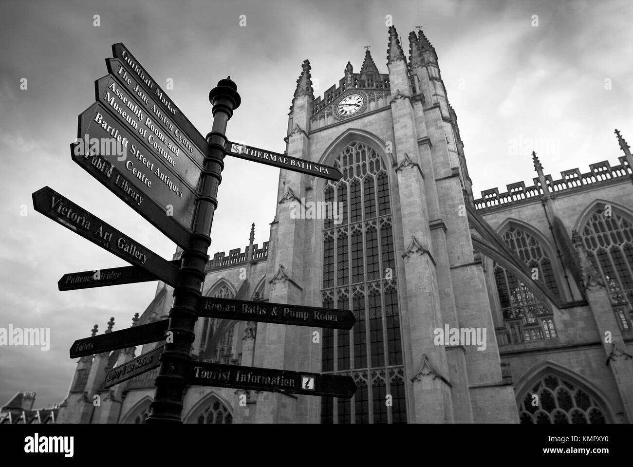 Bath abbey. England, UK - Stock Image