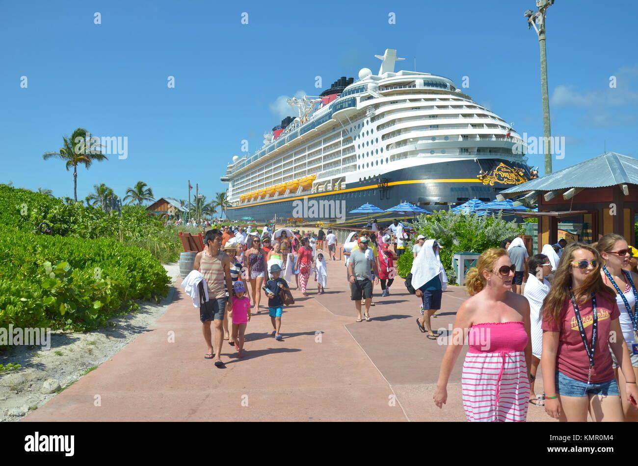 Disney S Castaway Cay Private Island In The Bahamas Stock Photo Alamy