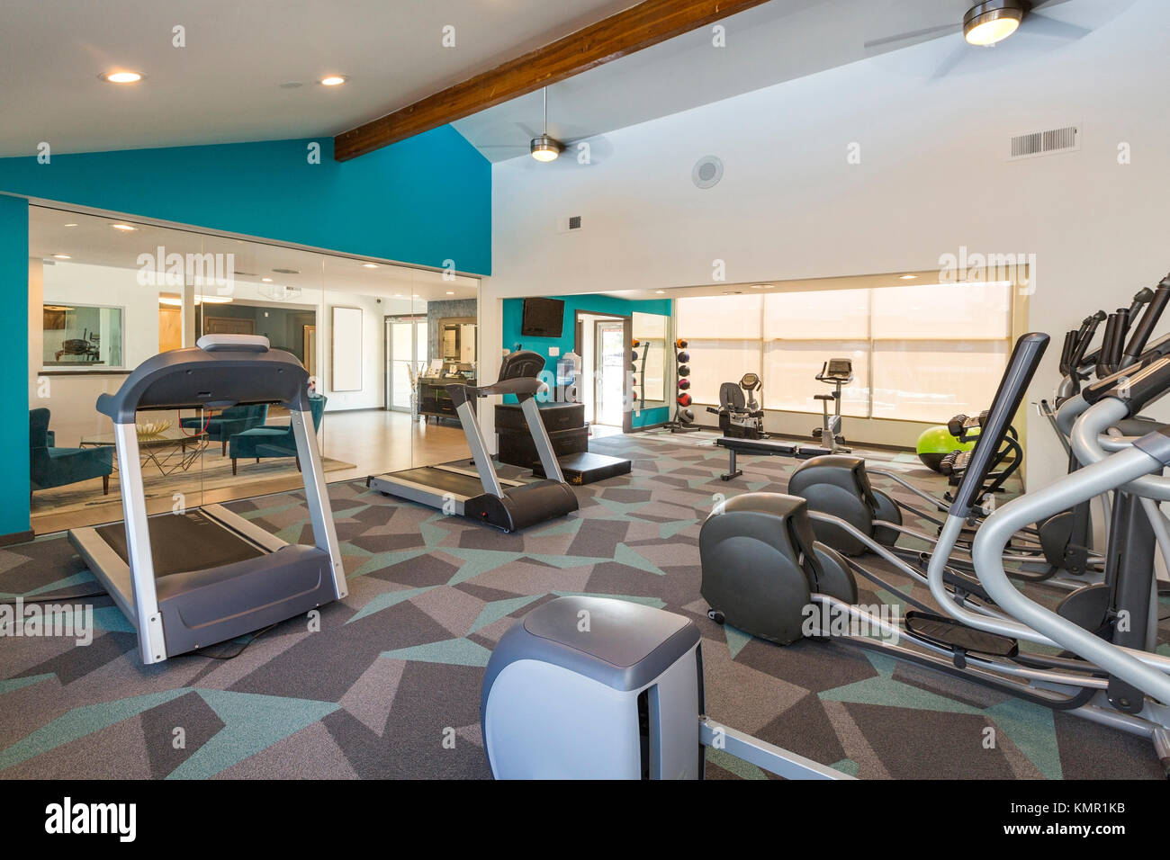 Modern Fitness Center - Stock Image
