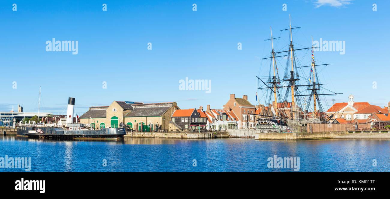 england hartlepool england hartlepool marina H M S Trincomalee a napoleonic war navy frigate restored as a living - Stock Image