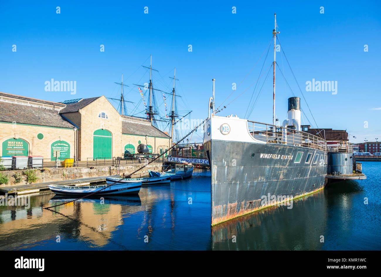 england hartlepool england National Museum of the Royal Navy historic dockyard Hartlepool marina hartlepool county - Stock Image
