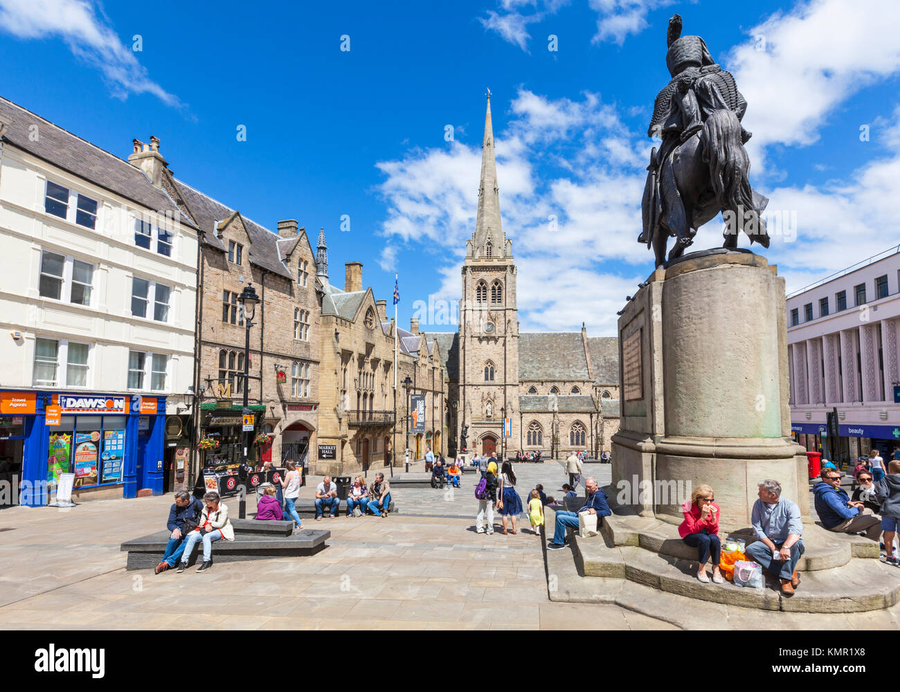 england durham england durham market place city of durham county durham northumberland england uk gb eu europe - Stock Image