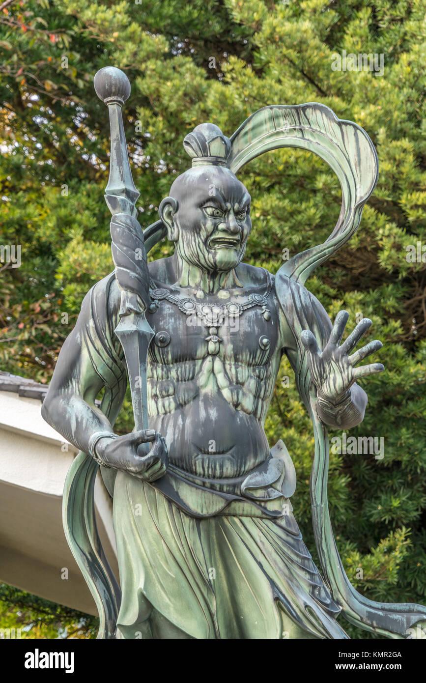 Agyo Deva King (Nio or Kongorikishi) Guardian. Shoukoku-ji temple. Part of Bando Sanjusanka. Zama city, Kanagawa - Stock Image