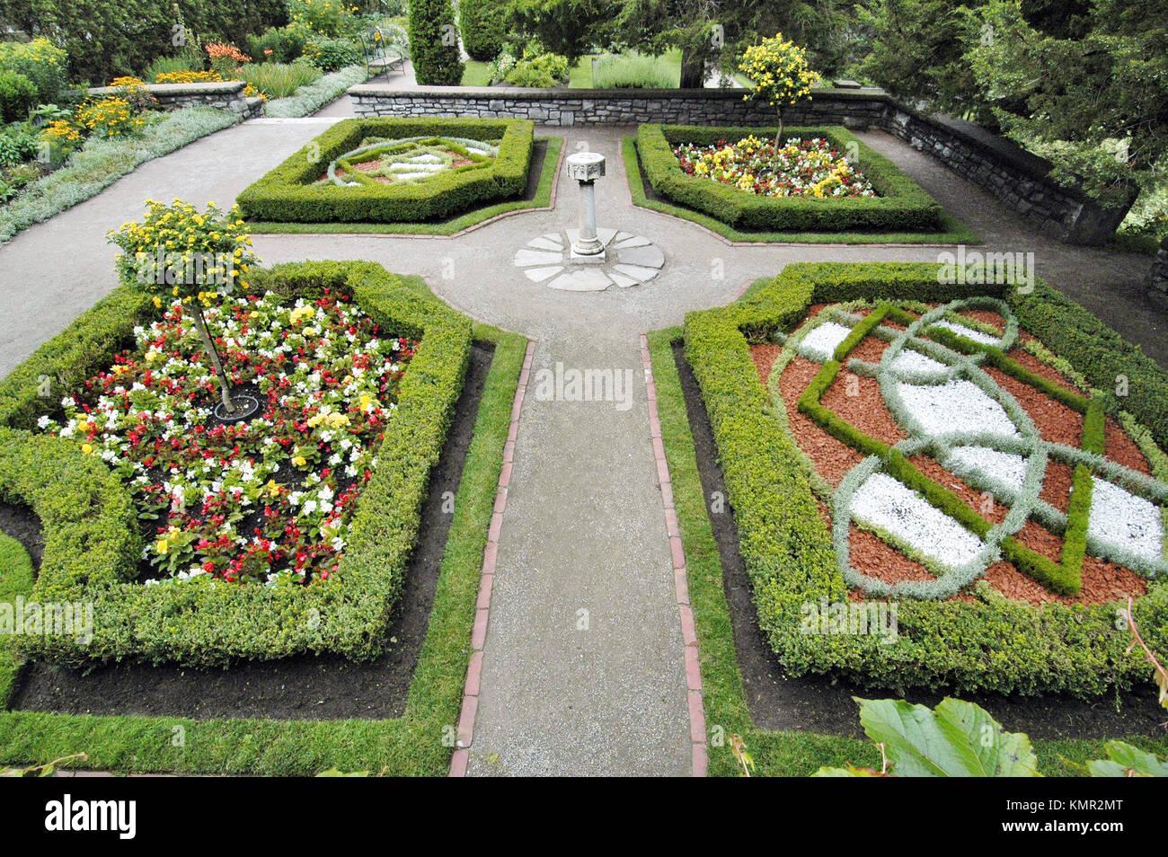 Shakespearean Gardens. Stratford. Ontario, Canada - Stock Image