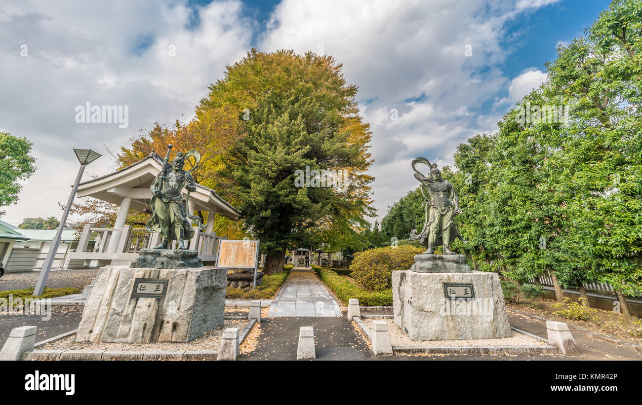 Deva Kings (Nio or Kongorikishi) Guardians at Shoukoku-ji temple. Part of Bando Sanjusanka.Zama city, Kanagawa Prefecture, - Stock Image