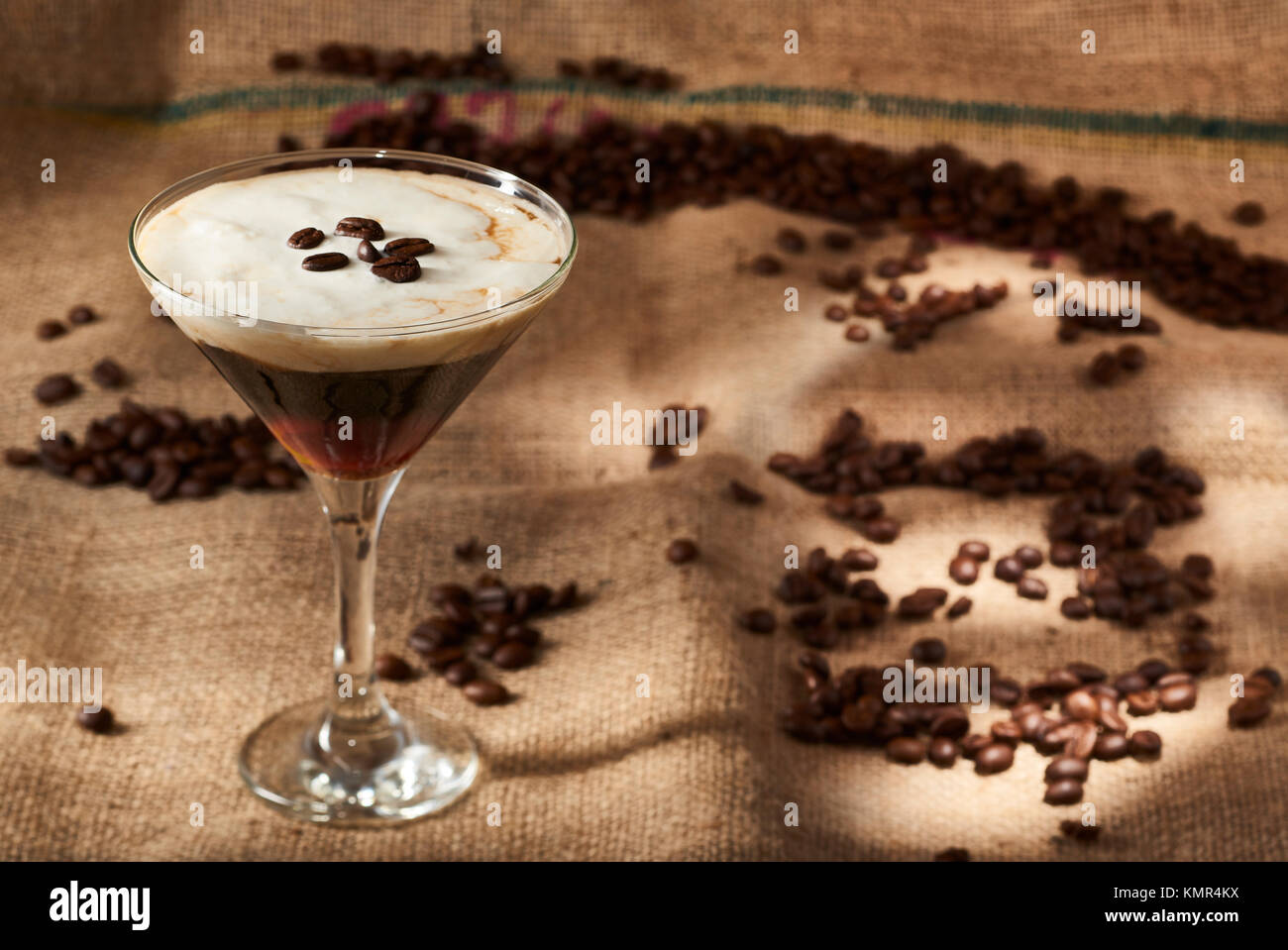 Cup of Espresso Martini - Stock Image
