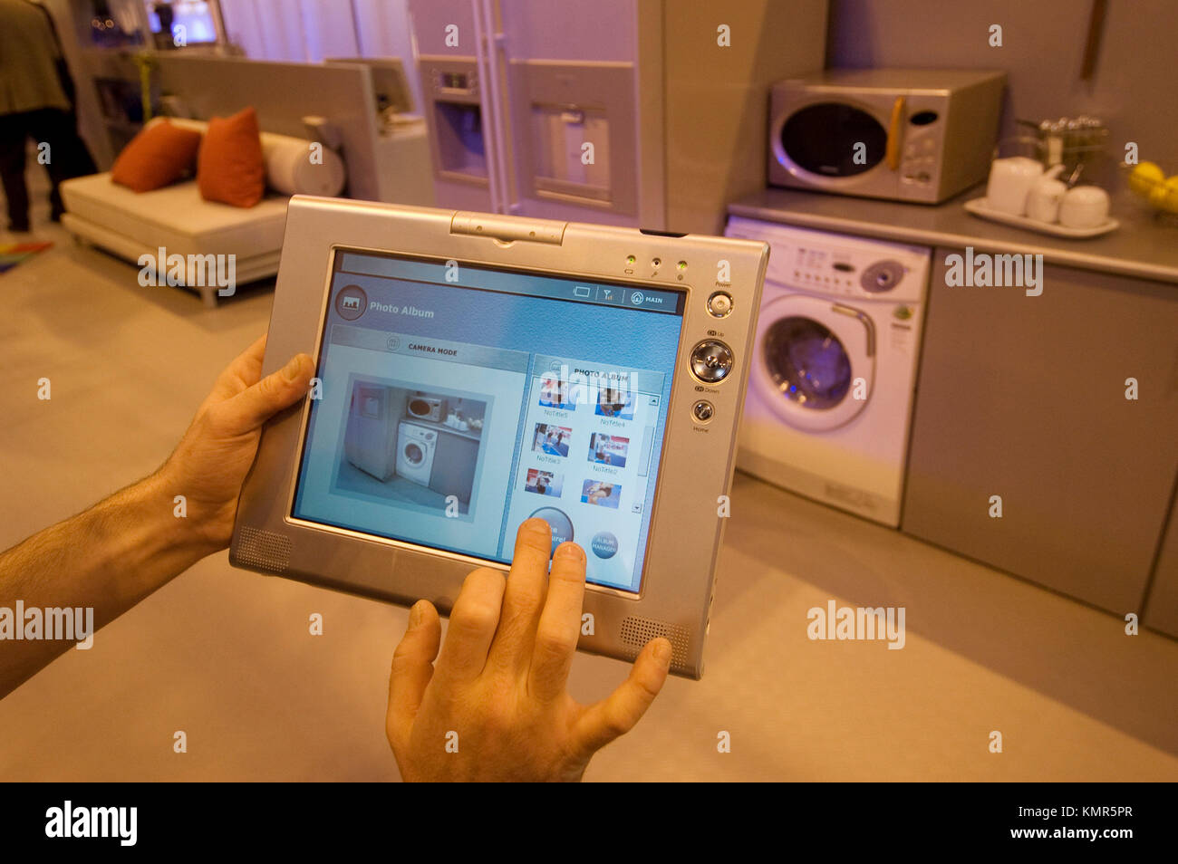 Samsung´s home vita domotic system, prepared to control all domestic electronic devices, SIMO TCI, International - Stock Image