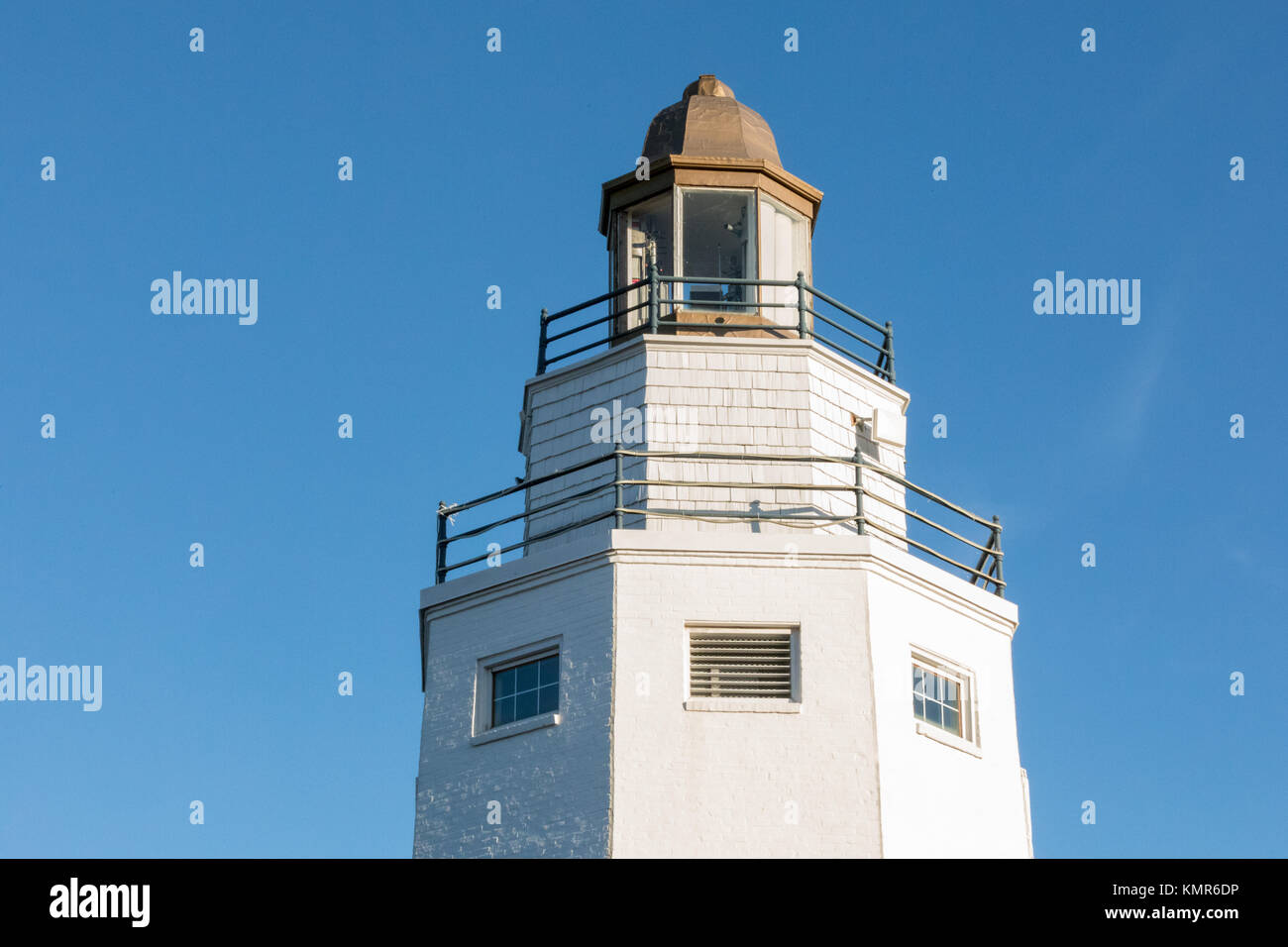 Light house in eastern long island, ny, USA - Stock Image