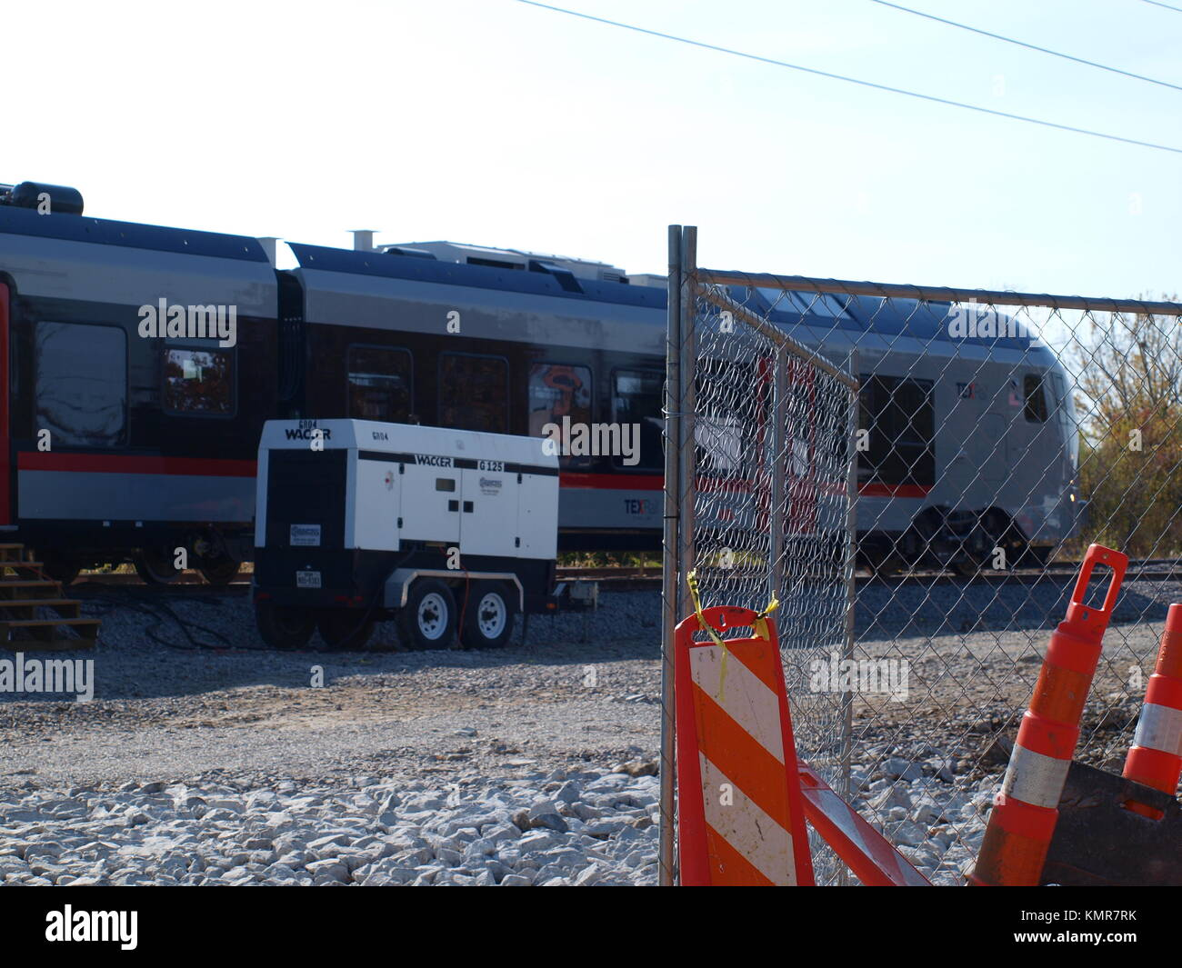 First New Cars for TEXrail arrive from  Stadler Rail, US/Switzerland) - Stock Image