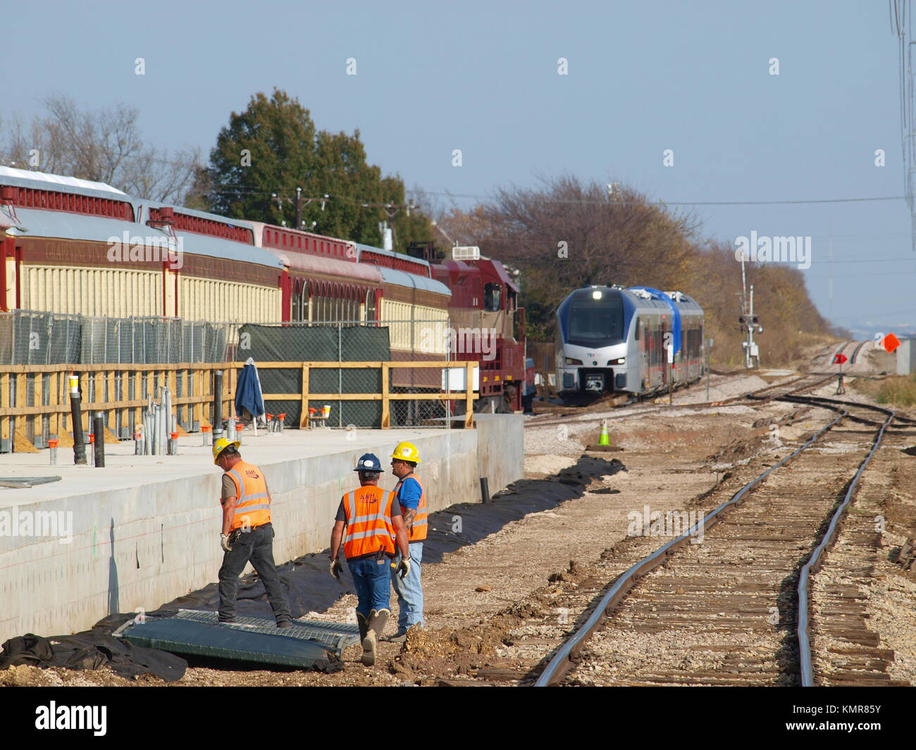 Part II of First New Cars for TEXrail arrive (should Stock