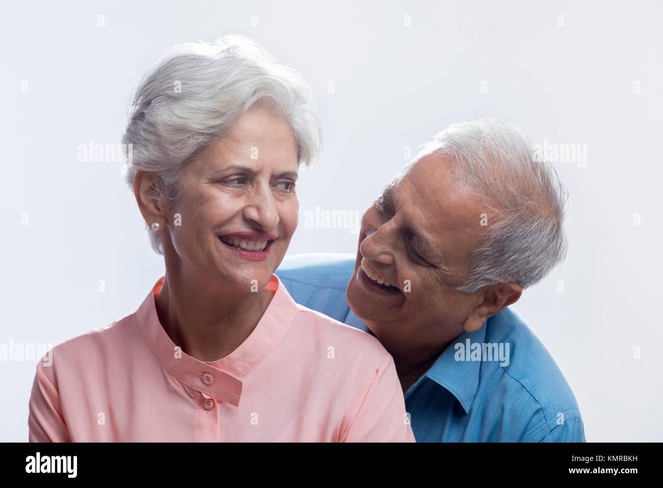 Close up of happy senior couple - Stock Image