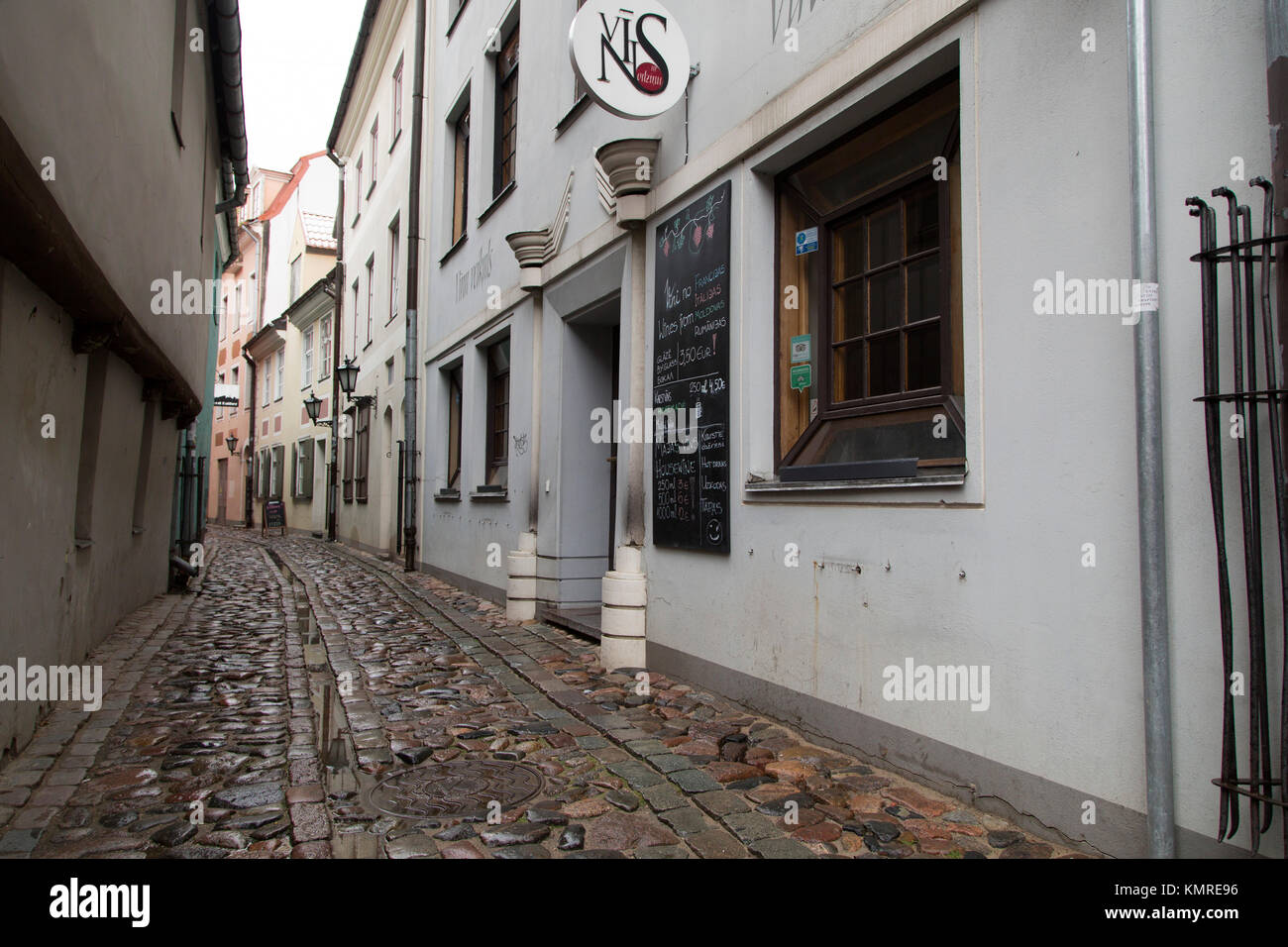 Trusknu iela, once a street of prostitution, in Riga, Latvia. The street is in the Old Town. - Stock Image