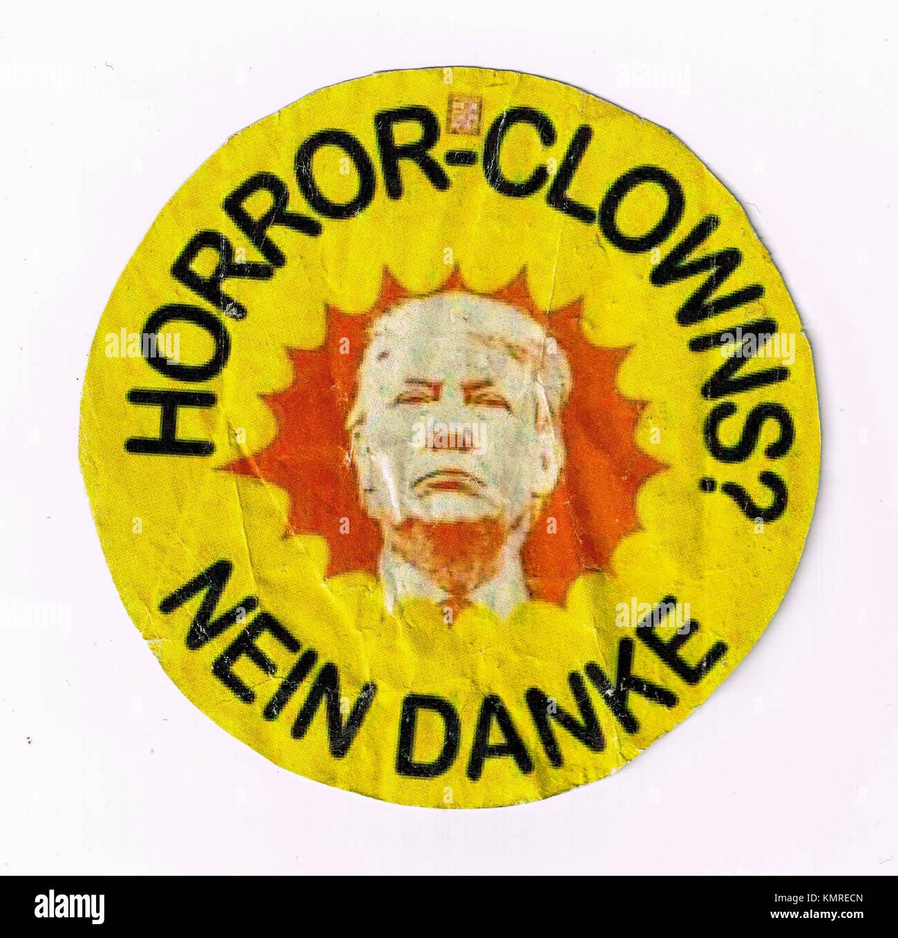 Anti-G20 stickers protest Donald Trump presence in Hamburg, Germany - Stock Image