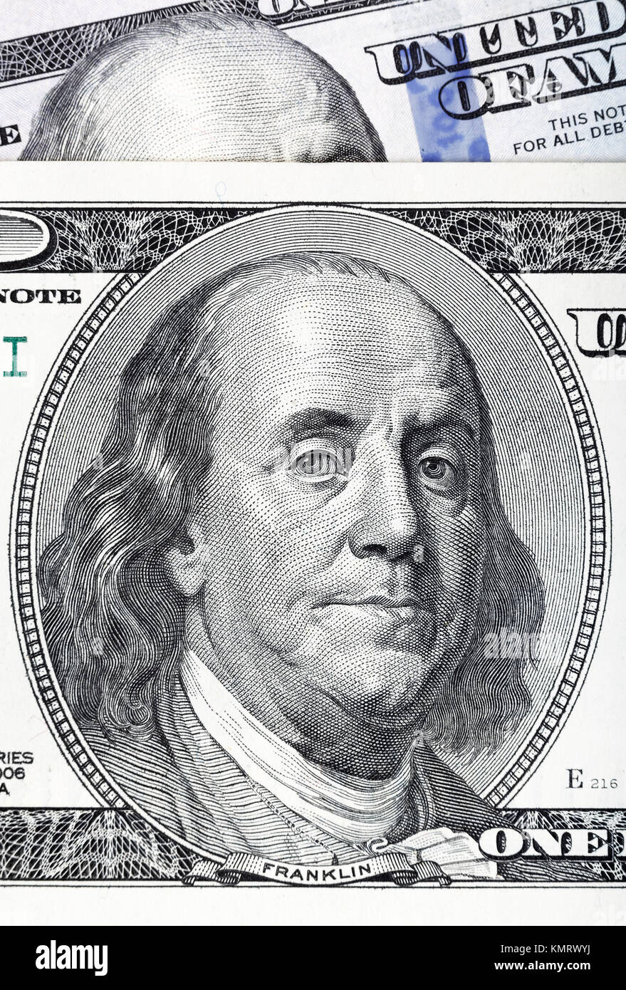 Dollars closeup. Highly detailed picture of U.S. America money.  - Stock Image