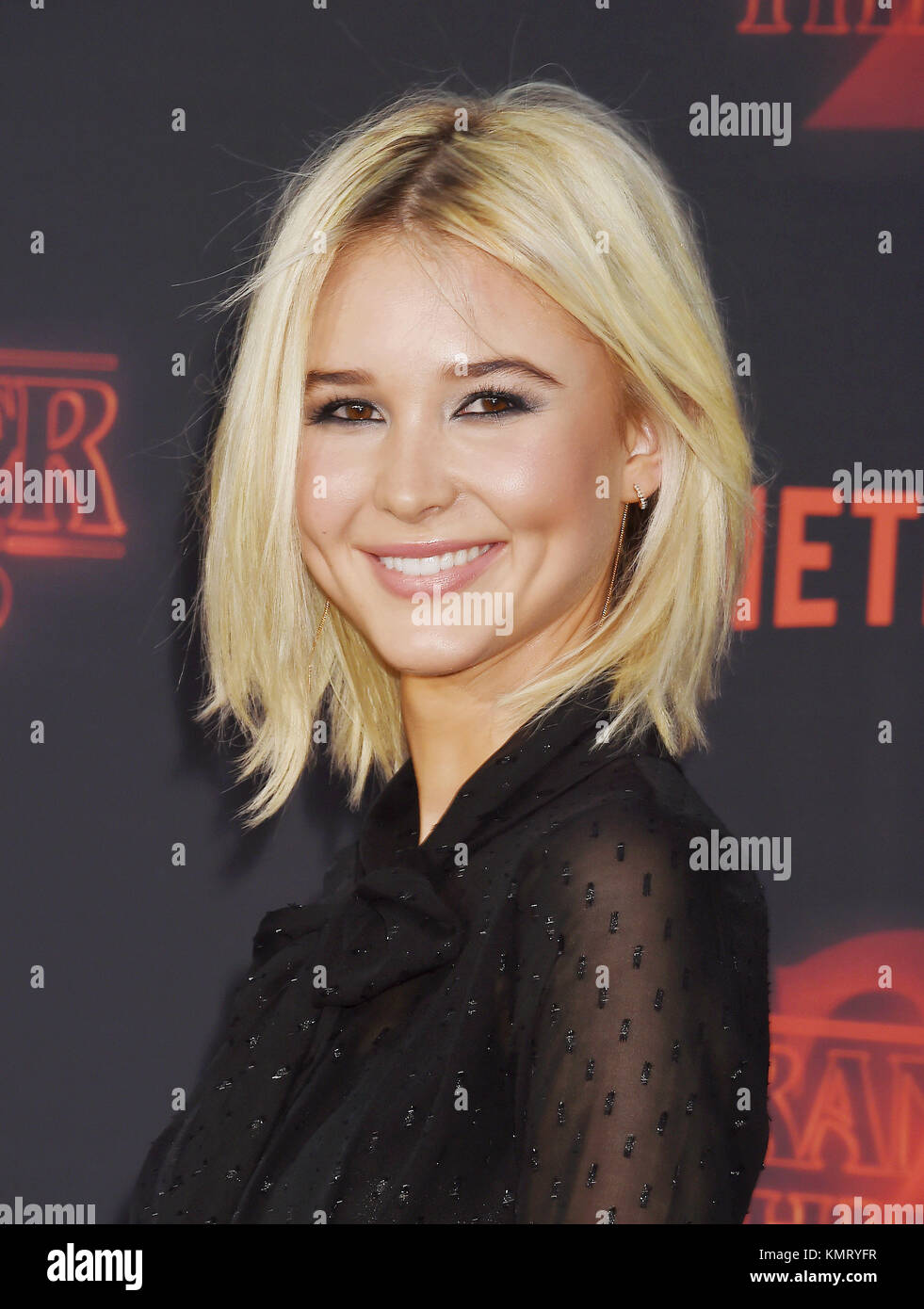 ISABEL MAY US film actress arrives at the Premiere Of Netflix's 'Stranger Things' Season 2 at Regency - Stock Image