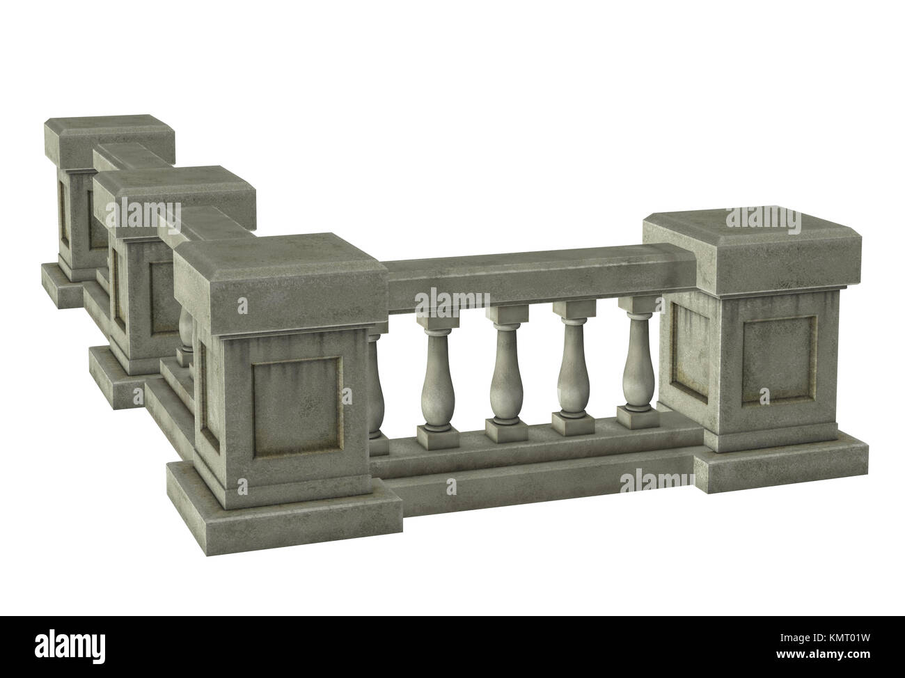 Column with railings - Stock Image