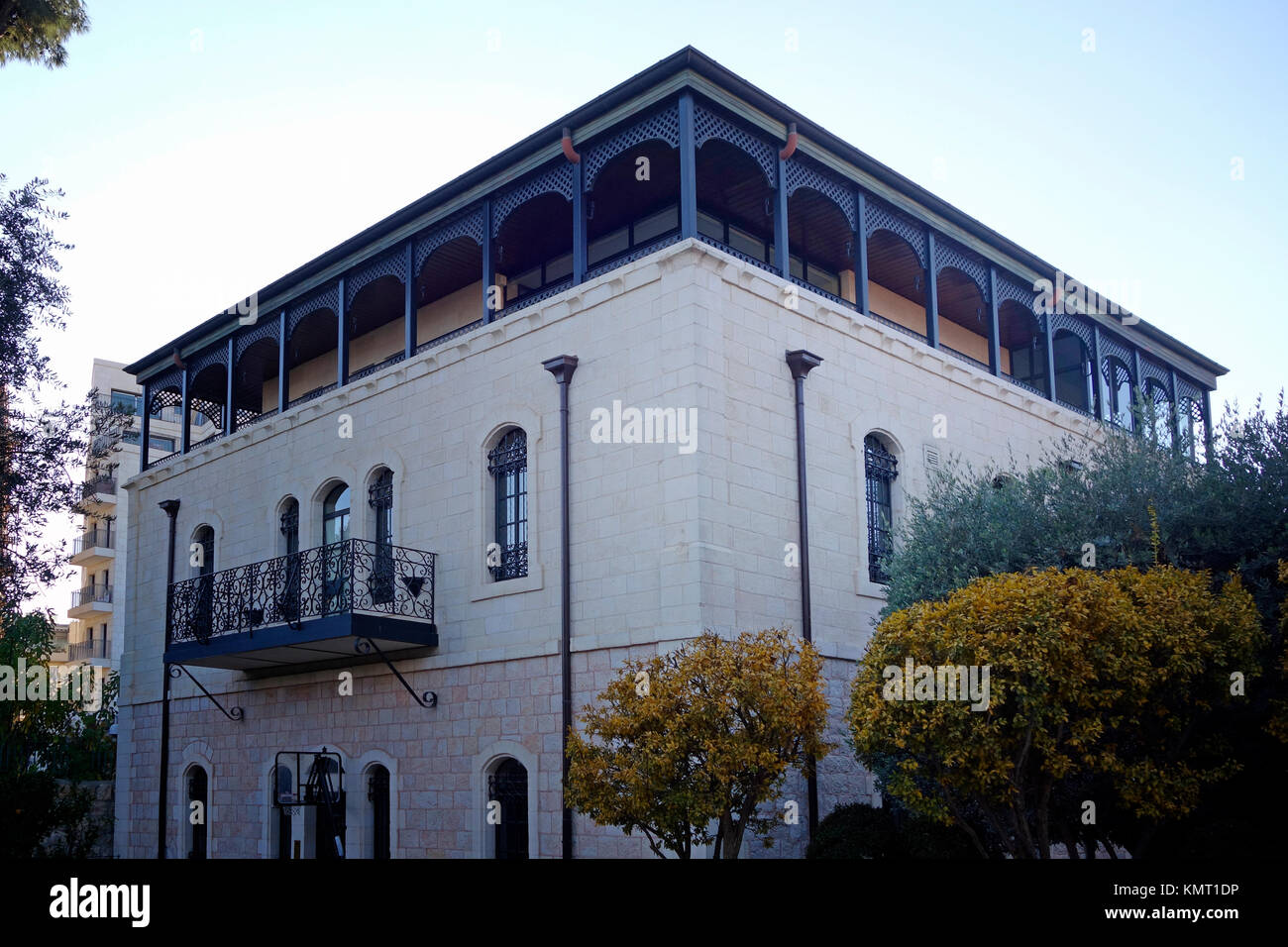A renovated late-19th century house now owned by Jewish American billionaire Joseph Mordechai Tabak, who serves - Stock Image