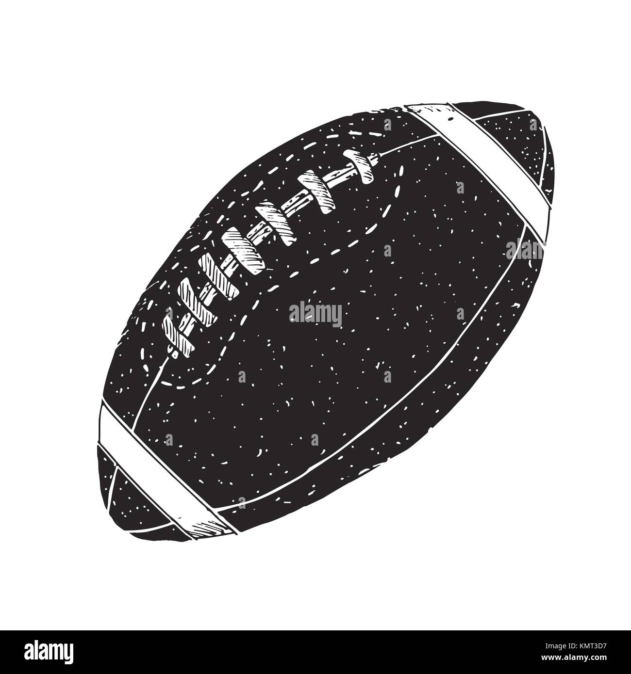 American Football Rugby Ball Hand Drawn Grunge Textured Sketch Stock Vector Image Art Alamy
