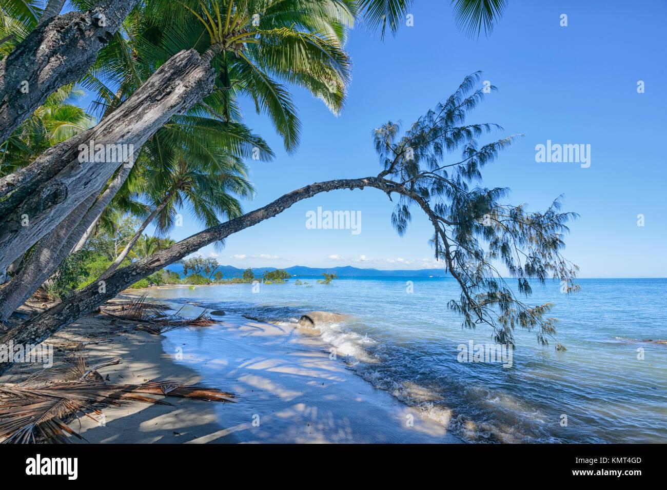 Scenic coastline at Yarrabah, Aborignal Shire, near Cairns, Far North Queensland, FNQ, QLD, Australia - Stock Image