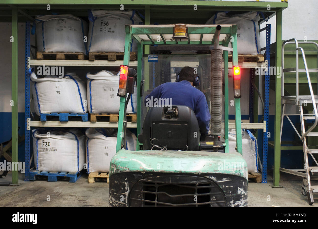 Workers in Industry - Stock Image
