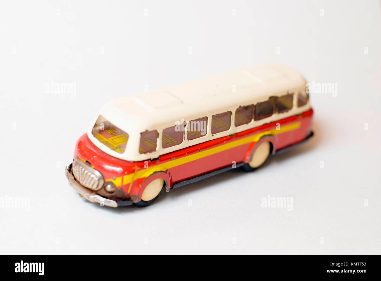 toy - model of antique bus - Stock Image
