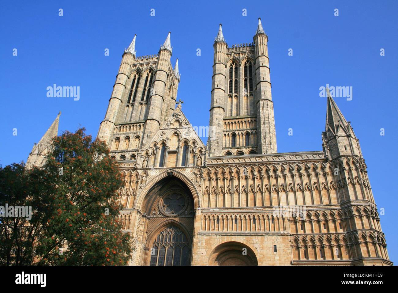Lincoln Cathedral, Lincolnshire, the Midlands, UK - Stock Image