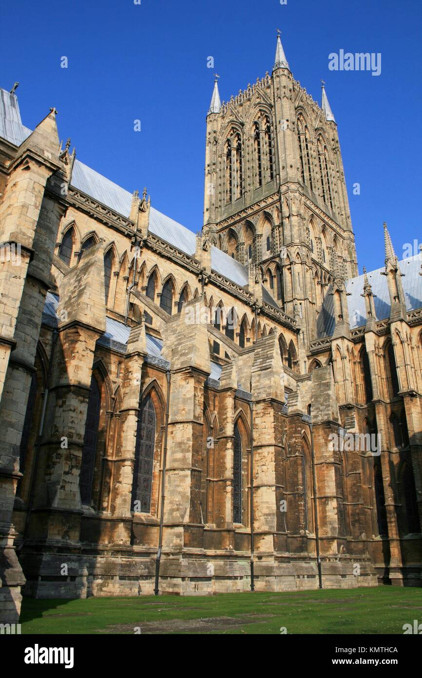Lincoln Cathedral, Lincolnshire, the Midlands, UK Stock Photo