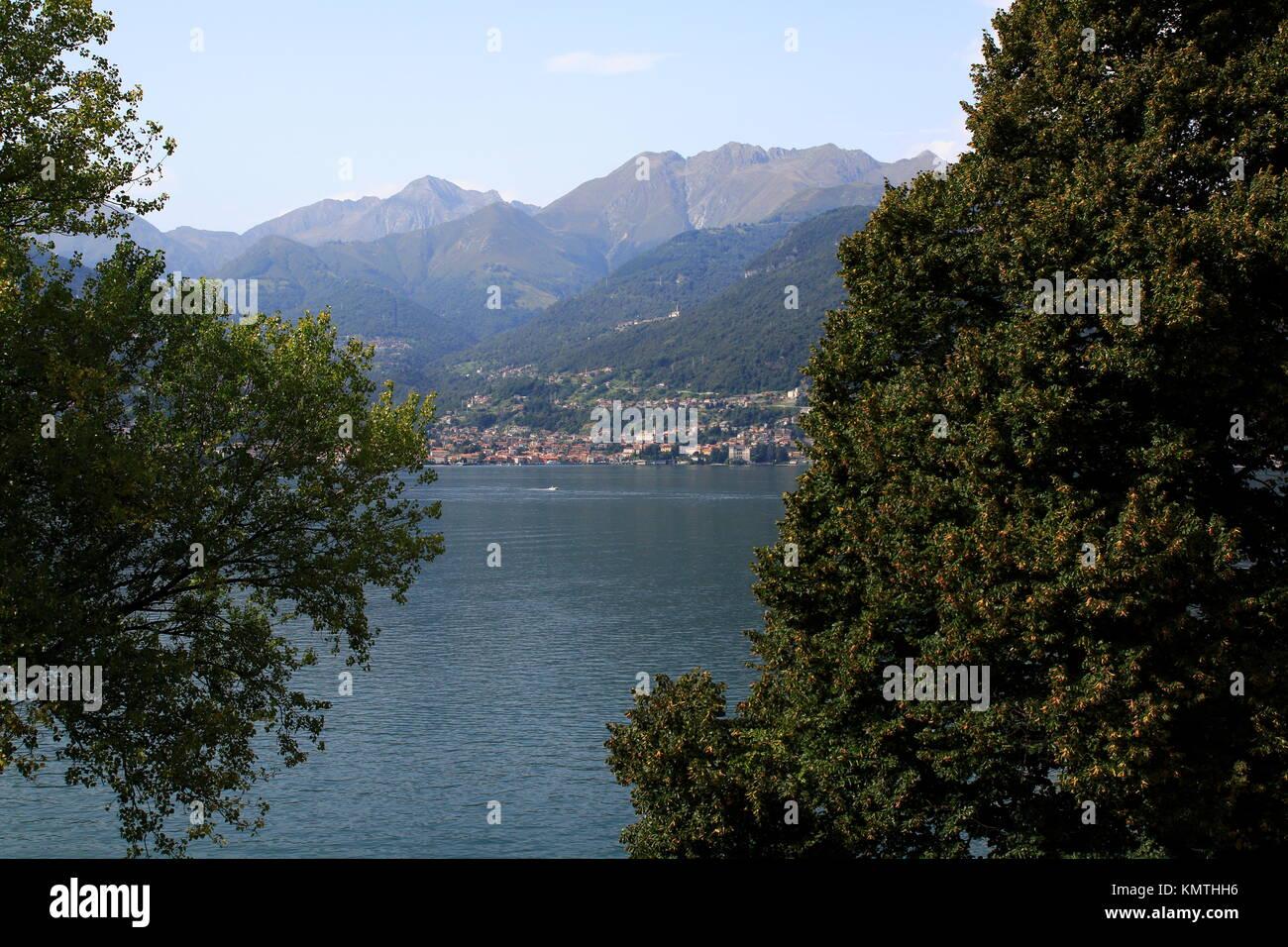 Blick von Piona über den Comer See nach Gravedona - Stock Image