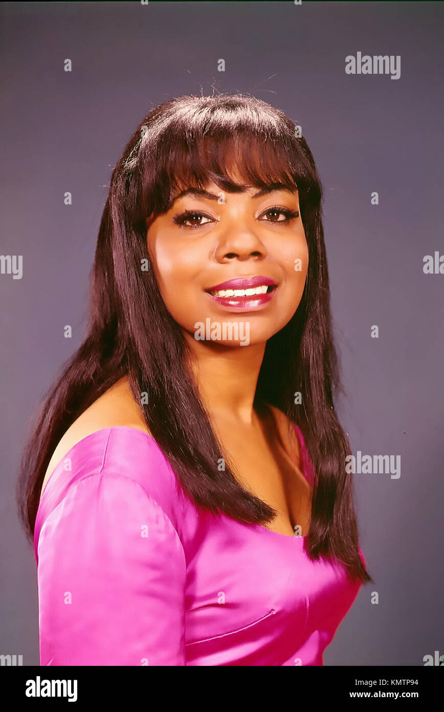 MARY WELLS (1943-1992) Promotional photo of American singer about 1978 - Stock Image