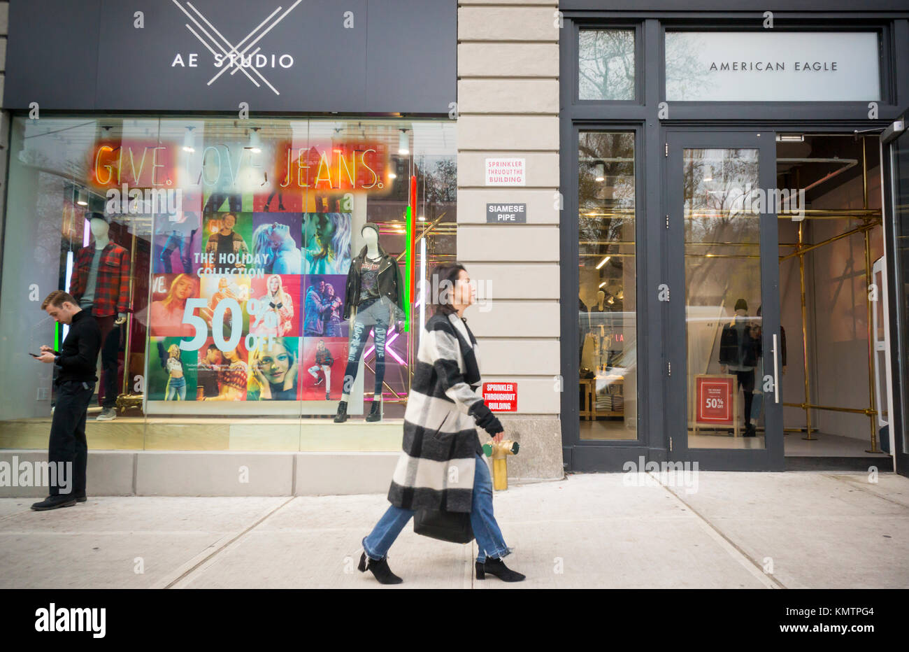 A spanking brand-new AE Studio store, a brand of American Eagle Outfitters, in Union Square in New York on Wednesday, - Stock Image
