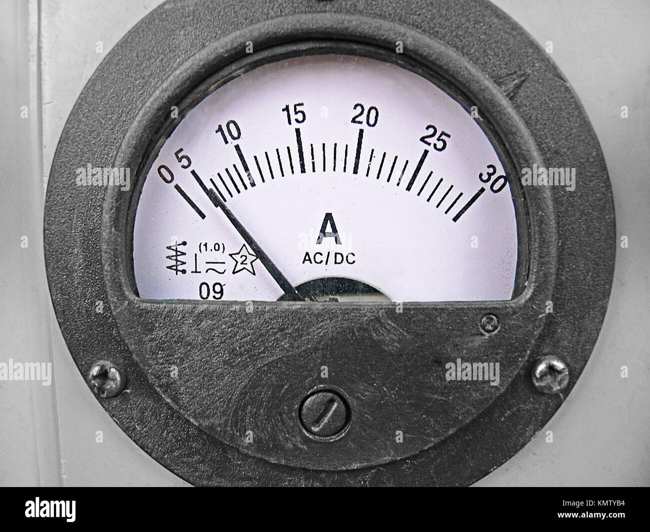 Analogue Voltage meter, Stabilizer - Stock Image