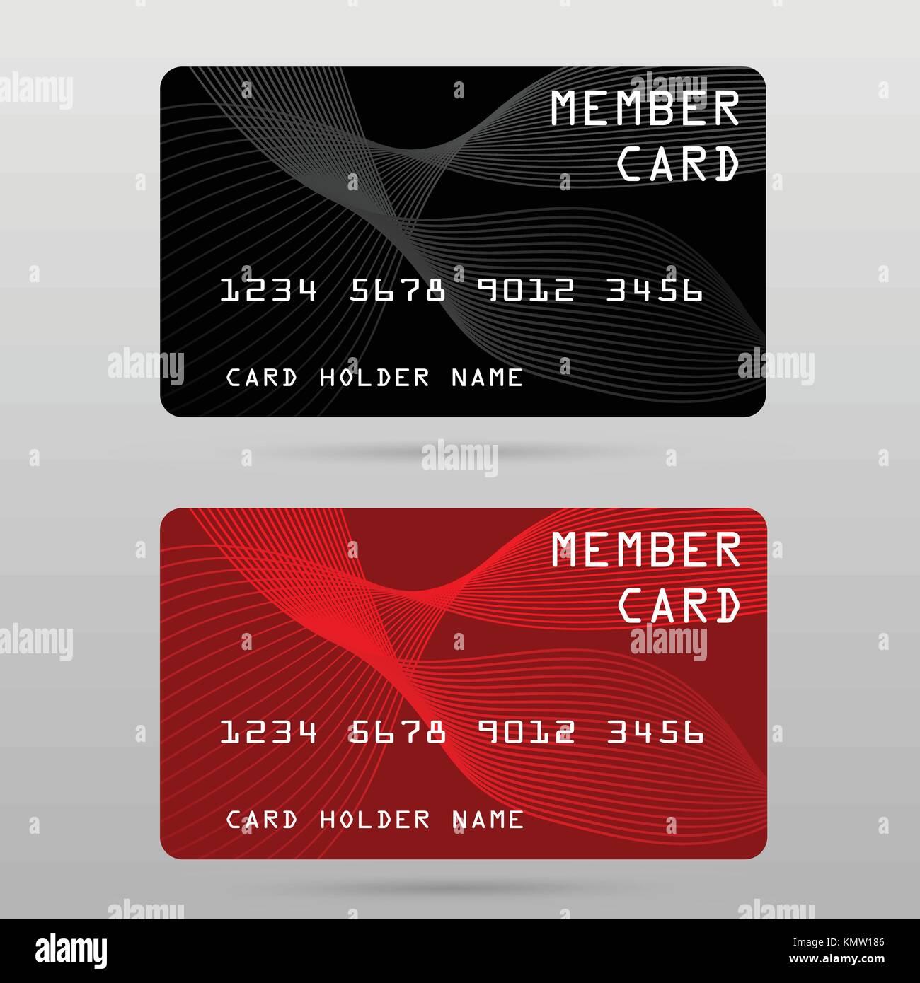 member card, business VIP card, design for privilege member,vector ...