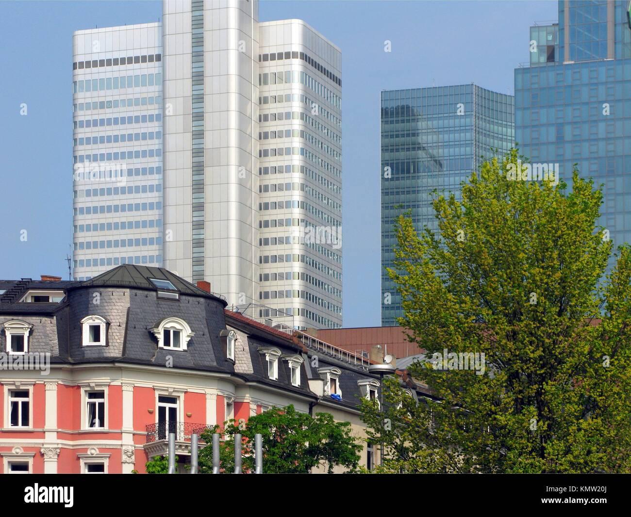 City landscape Frankfurt am Main Germany Stock Photo