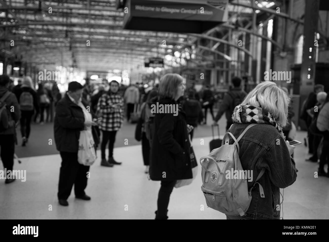 Glasgow Central Rush Hour - Stock Image