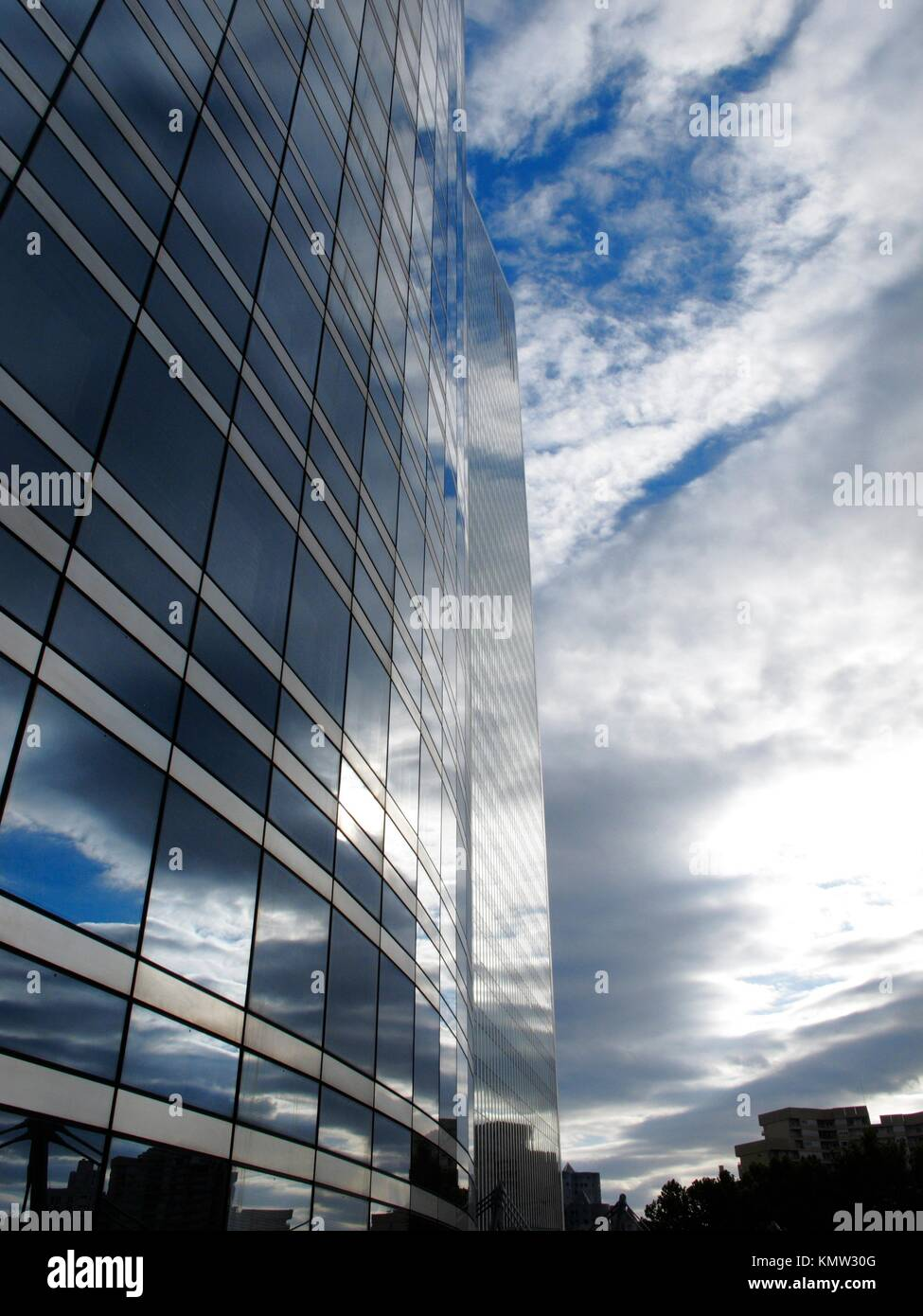 Detail of modern architecture in the biggest zone of business in Paris, La Defense  France - Stock Image
