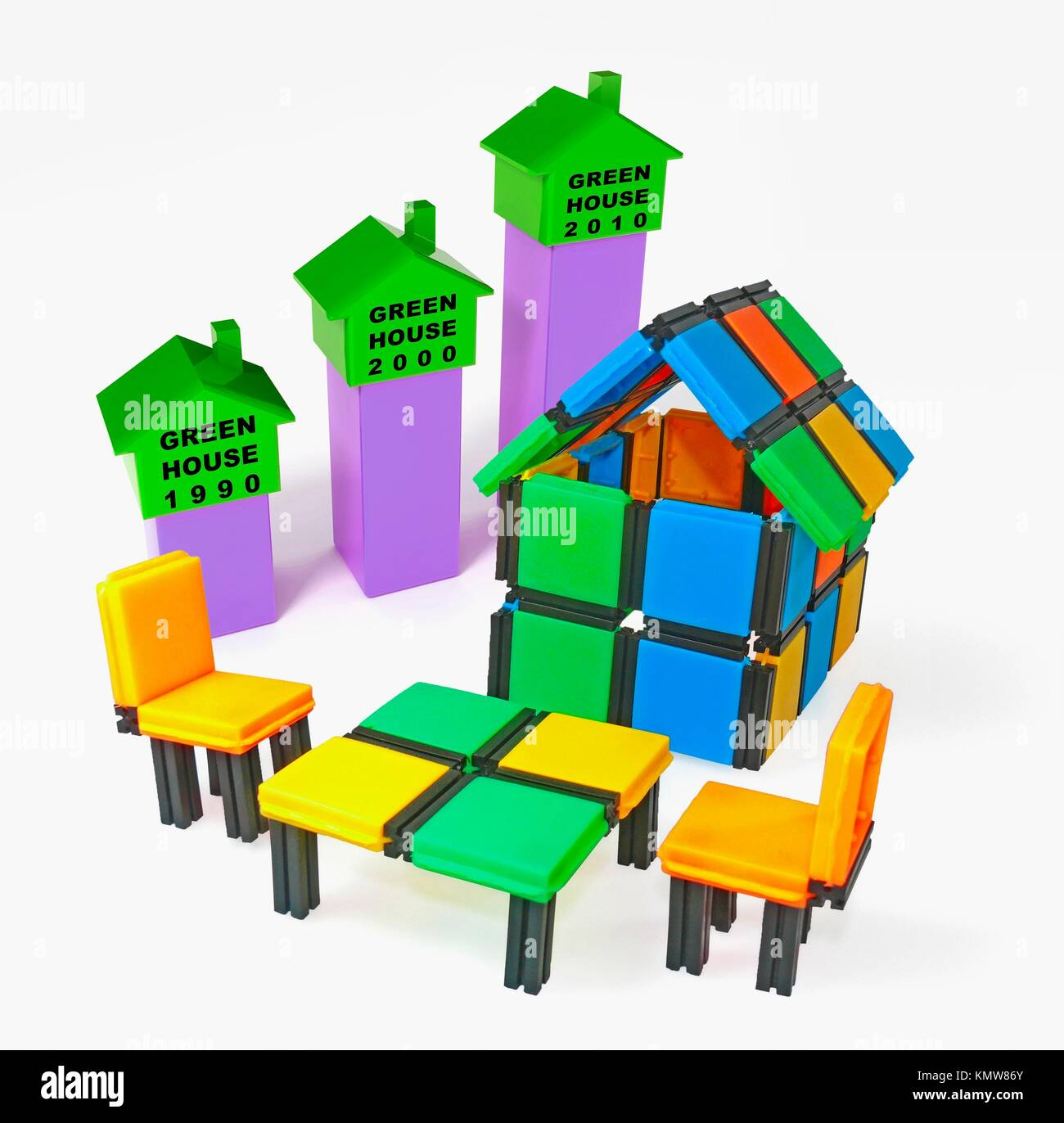 Close-up of a model home with Sitting Arrangement Stock Photo
