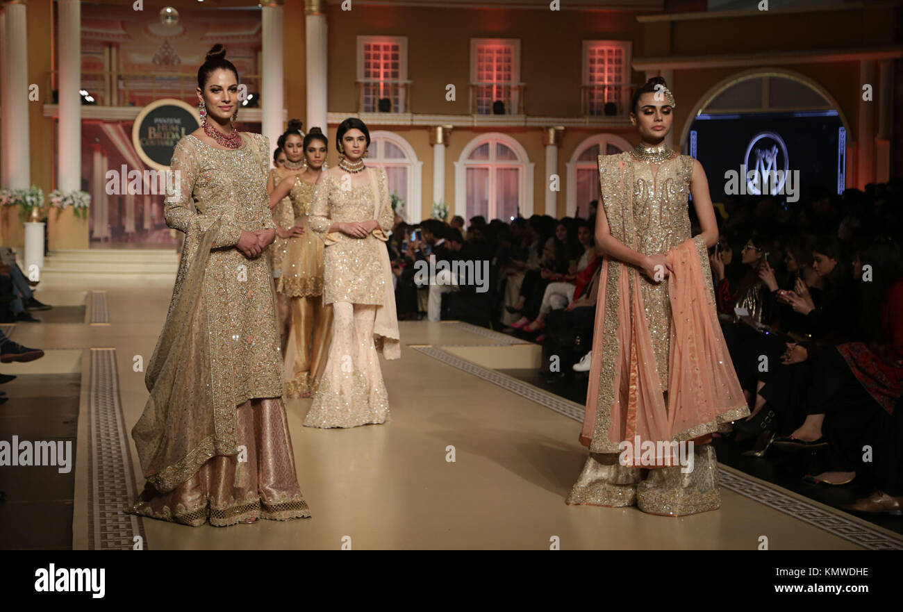 Models present creations of famous designers during the Pantene Hum ...