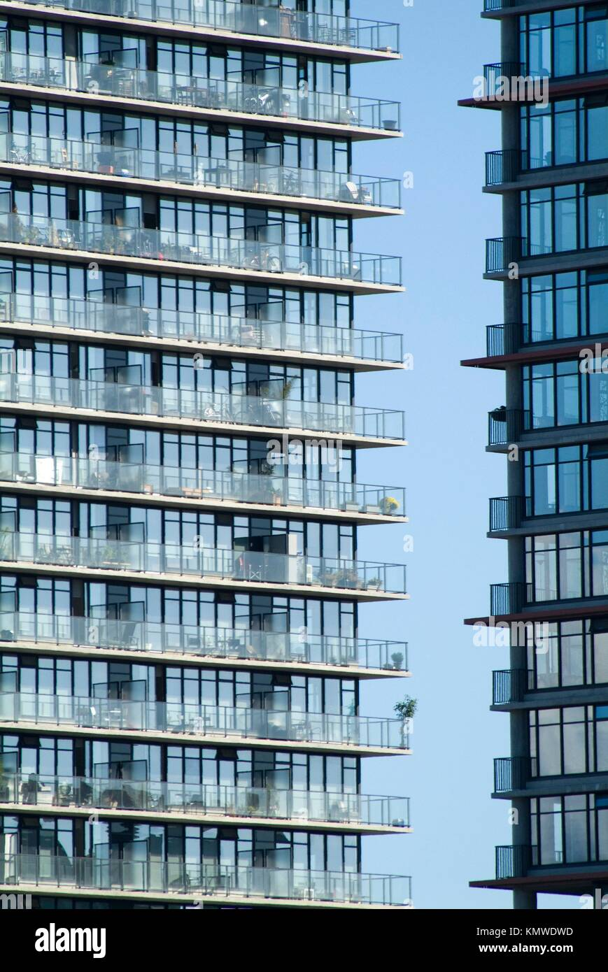 Woodwards apartment towers, downtown, Vancouver, BC, Canada Stock Photo