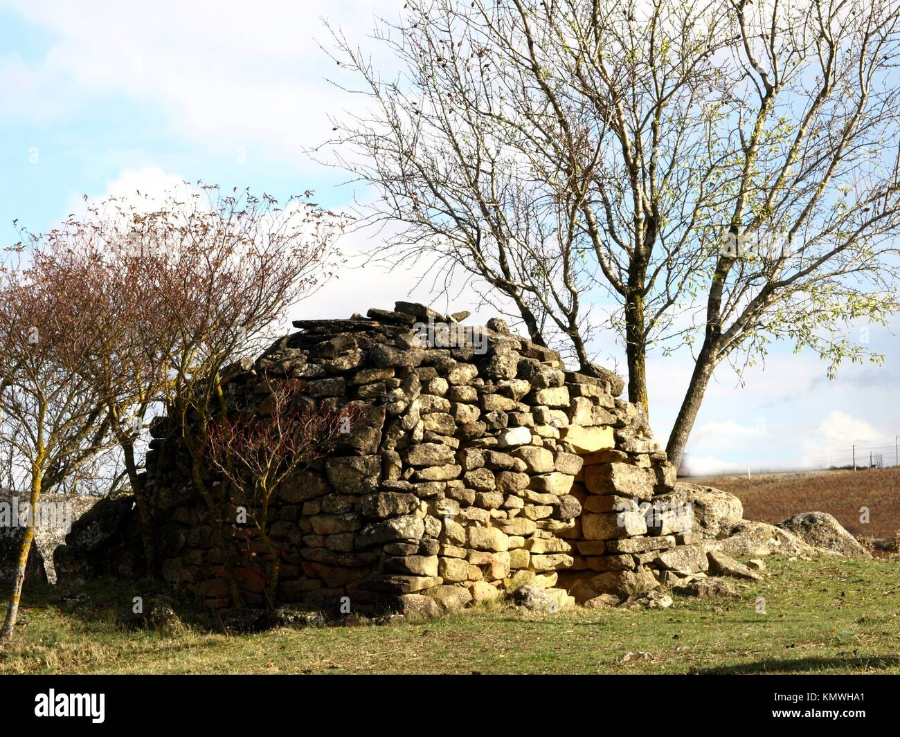 San Martin dolmen in La rioja. Spain - Stock Image