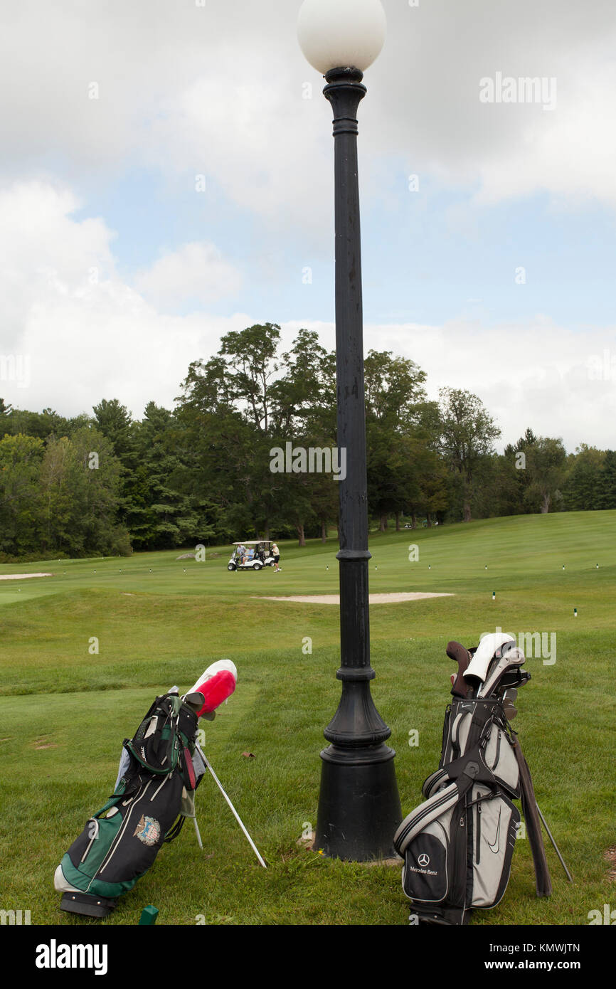 Golf course in Massachusetts USA. - Stock Image
