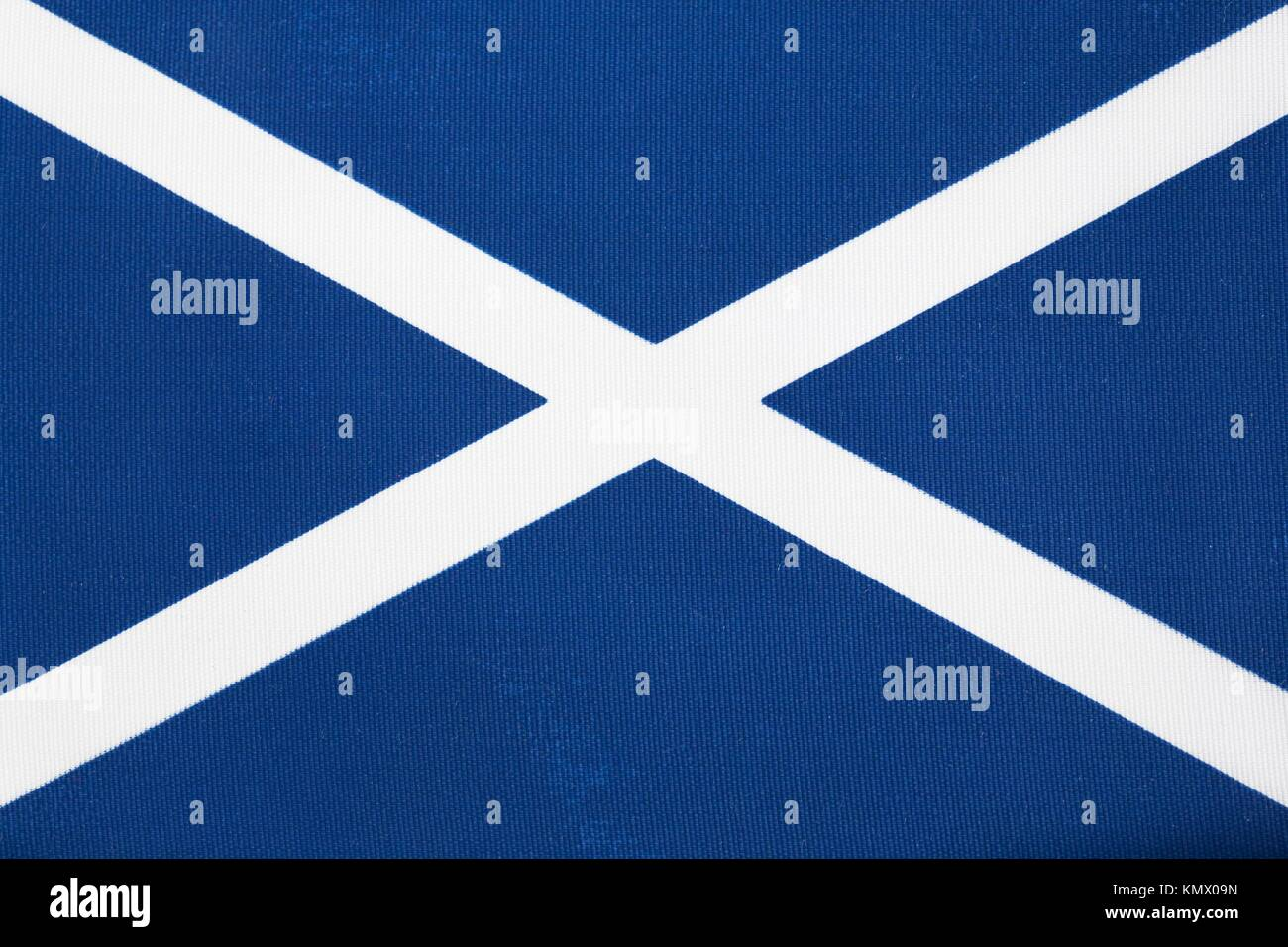 Close up of The Scottish Flag of St Andrew - Stock Image